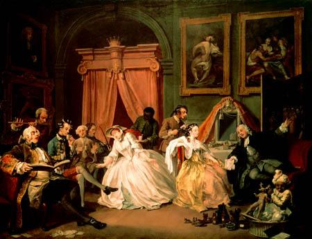 William Hogarth - Morgendlicher Empfang der Comtesse