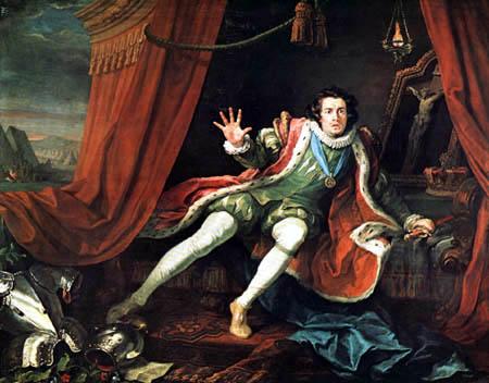 William Hogarth - Porträt David Garrick als Richard III.