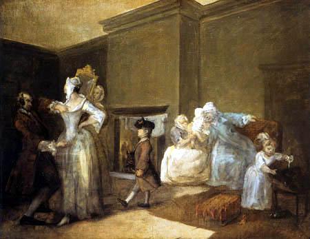 William Hogarth - Der Korsettmacher