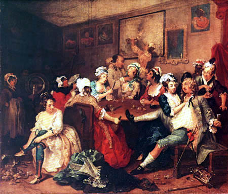 William Hogarth - Wirtshausszene