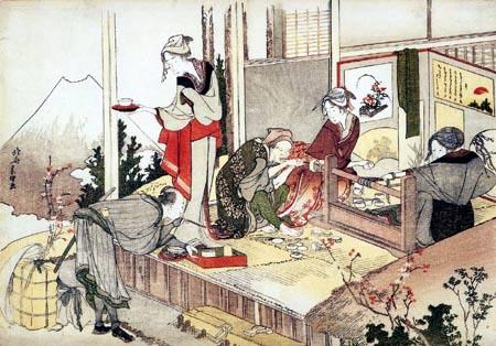 Katsushika Hokusai - Das Atelier von Netsuke