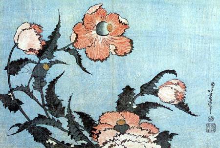 Katsushika Hokusai - Corn poppies