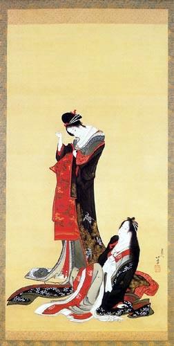 Katsushika Hokusai - Zwei Kurtisanen