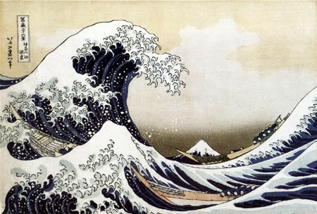 Katsushika Hokusai - The great wave of Kanawaga