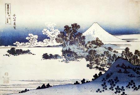 Katsushika Hokusai - Le Fuji vu de la plage de Shichirigahama dans la province de Sagami