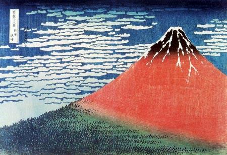 Katsushika Hokusai - Der Fujijama bei gutem Wetter