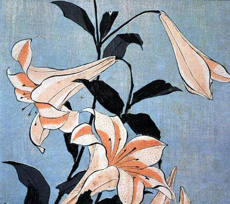 Katsushika Hokusai - Lilie