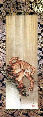 Katsushika Hokusai - Tiger im Regen