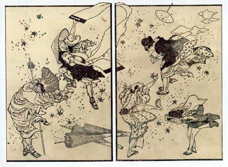 Katsushika Hokusai - Vent soudain