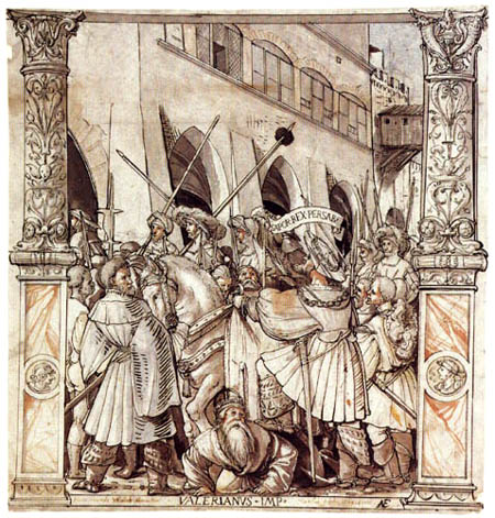 Hans Holbein the Younger - The Humiliating of the emperor Valerian