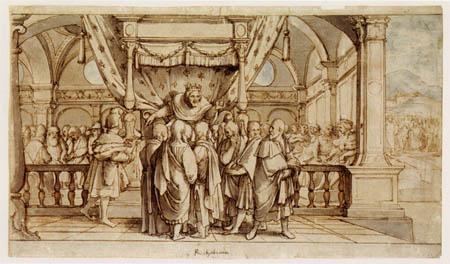 Hans Holbein der Jüngere - Rehabeams Übermut