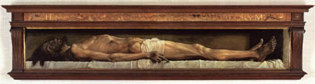 Hans Holbein the Younger - The dead Christ in the grave