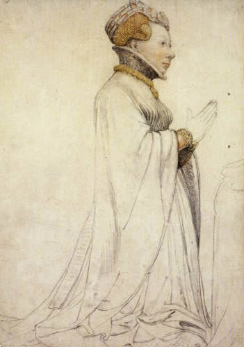 Hans Holbein the Younger - Jeanne de Boulogne, Herzogin von Berry