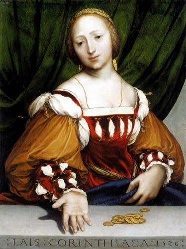 Hans Holbein der Jüngere - Lais von Korinth