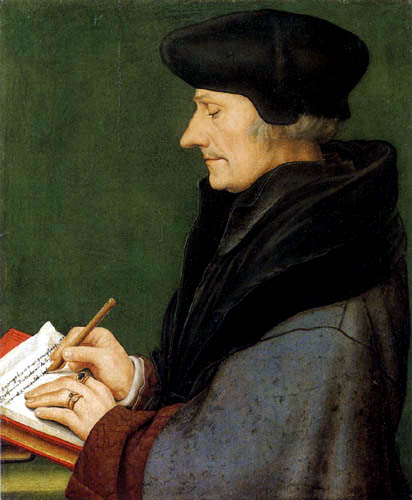 Hans Holbein the Younger - The writing Erasmus of Rotterdam