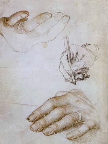 Hans Holbein der Jüngere - Handstudien