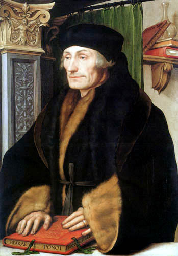 Hans Holbein the Younger - Portrait of Erasmus of Rotterdam