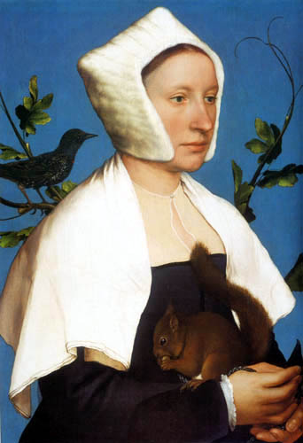 Hans Holbein the Younger - Lady with squirrels