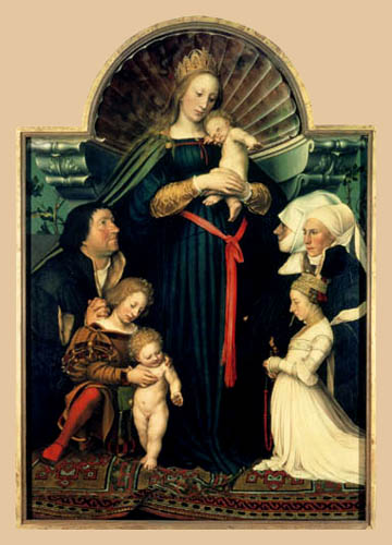 Hans Holbein the Younger - The Madonna of Darmstadt