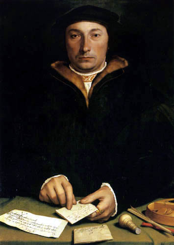 Hans Holbein the Younger - Portrait of Dirk Tybis