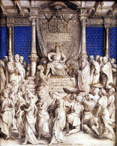 Hans Holbein the Younger - Salomo und die Königin von Saba