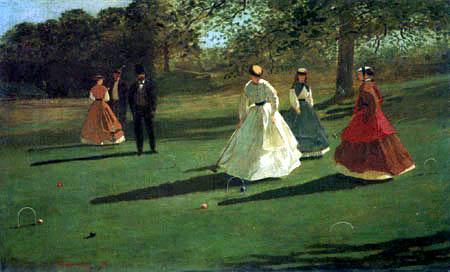 Winslow Homer - Croquetspieler