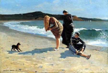 Winslow Homer - Am Strand, Manchester, Massachusetts