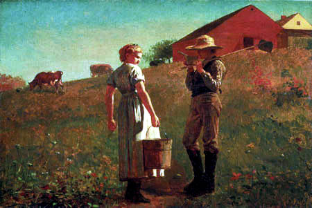 Winslow Homer - A Temperance Meeting, Noon Time