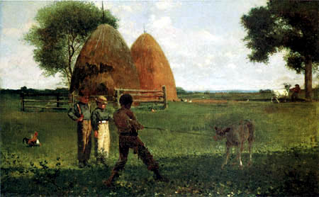 Winslow Homer - Wearning the Calf