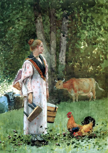 Winslow Homer - The Milkmaid