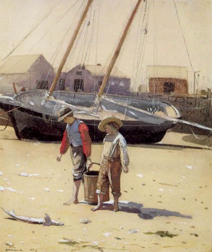 Winslow Homer - Ein Korb voll Muscheln