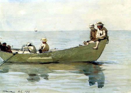 Winslow Homer - Jungen in einem Boot