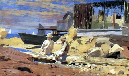 Winslow Homer - Warten auf die Boote