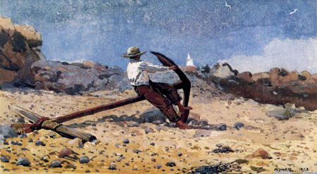 Winslow Homer - Boy with an anchor