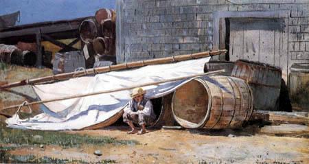 Winslow Homer - Boy in a Boatyard