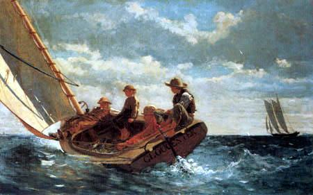 Winslow Homer - Breezing Up, a Fair Wind