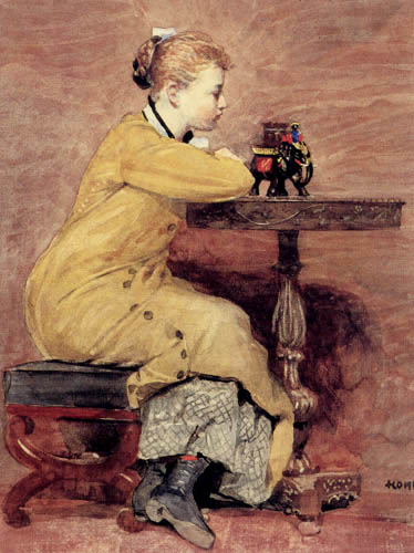 Winslow Homer - Woman and elephant