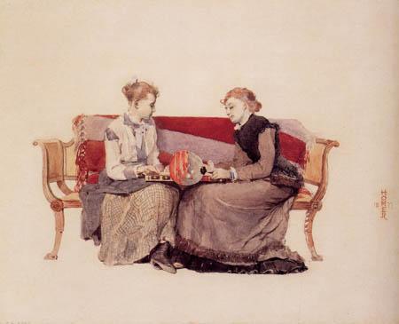 Winslow Homer - Backgammon Game