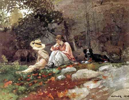 Winslow Homer - The Flock of Sheep, Houghton Farm