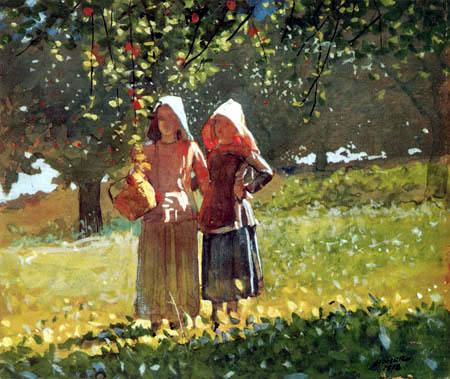 Winslow Homer - Apple Picking