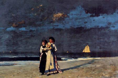 Winslow Homer - Promenade am Strand