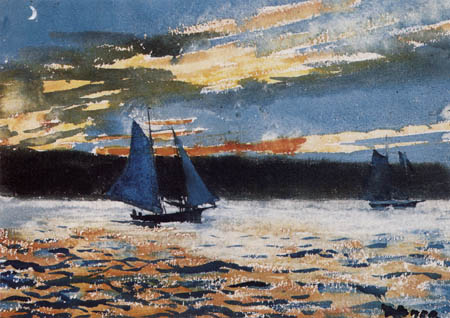 Winslow Homer - Gloucester, Sunset