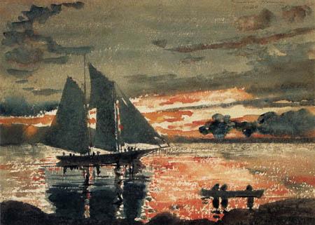 Winslow Homer - Sonnenuntergang