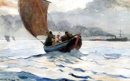 Winslow Homer - Heimkehrendes Fischerboot