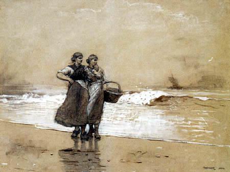 Winslow Homer - Fischerfrauen am Strand
