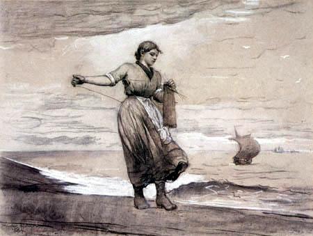 Winslow Homer - A Little More Yarn