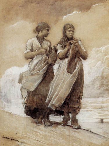 Winslow Homer - Fisher Girls on Shore, Tynemouth