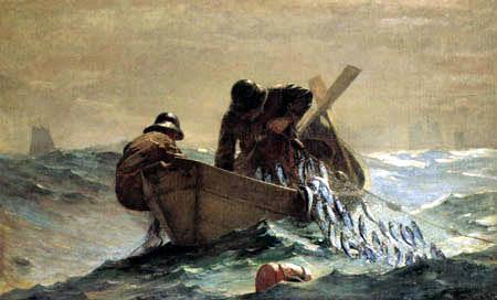 Winslow Homer - Das Heringsnetz