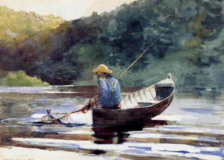 Winslow Homer - Fischender Junge