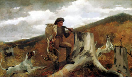 Winslow Homer - Jäger und Hunde